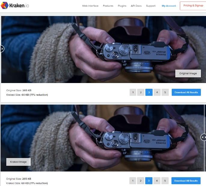 Best Images Optimization Tools #3. Kraken.io