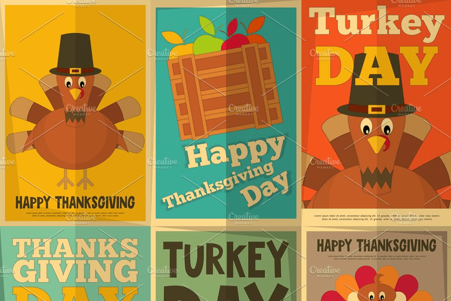 Thanksgiving Day Fall Graphics