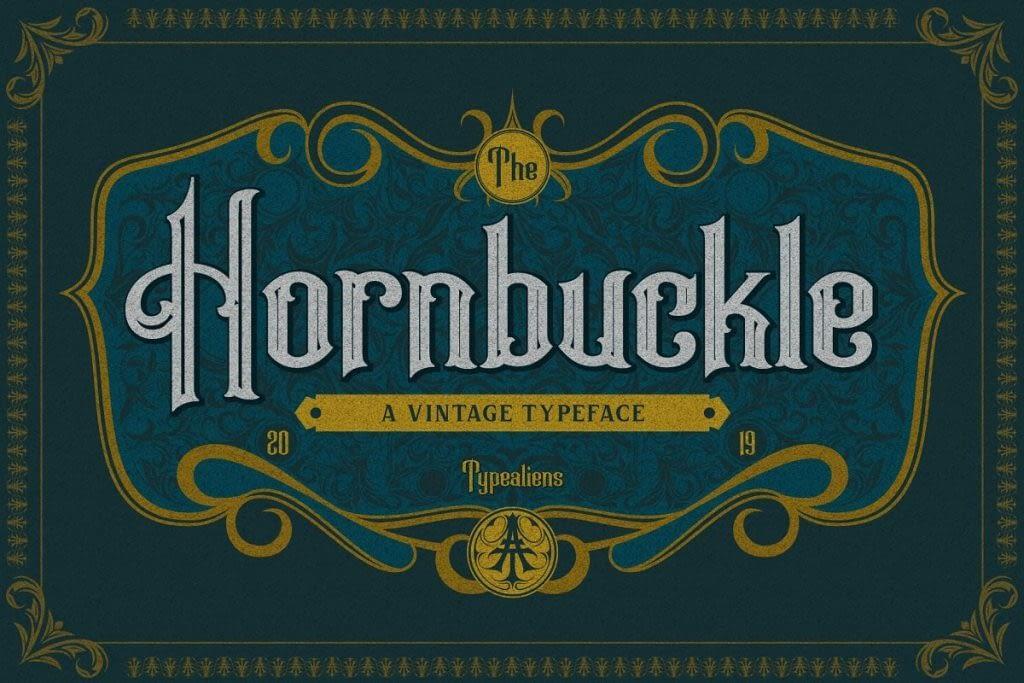 AnyConv.com  25. Hornbuckle – Vintage Tattoo Font –