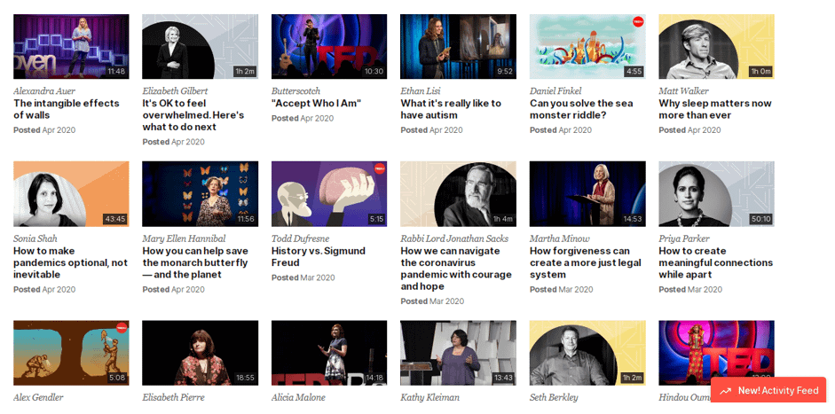 TED Talks creative mobile apps