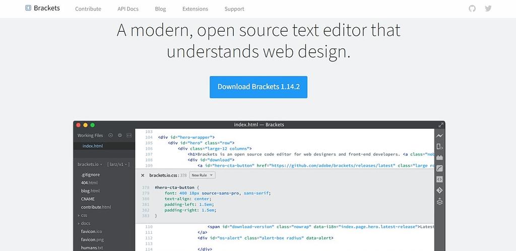 brackets Best JavaScript IDE and Code Editors