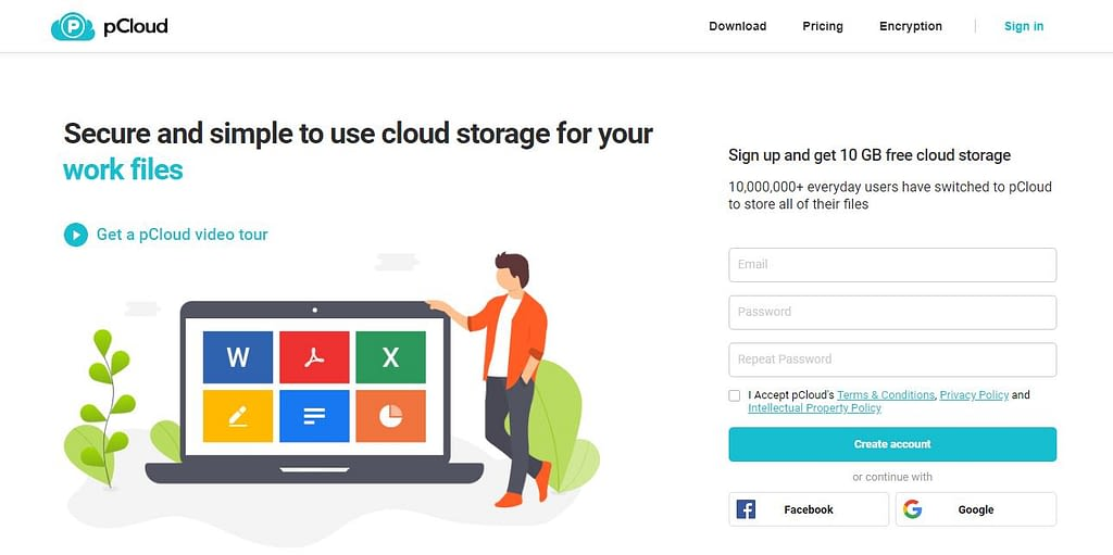 pCloud DropBox Alternative