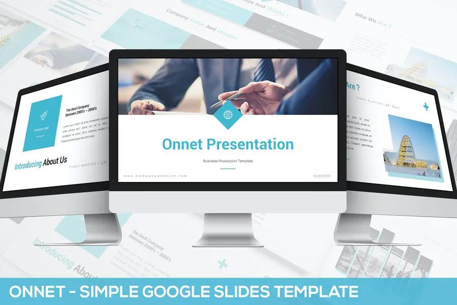Onnet - Google's simple slide template Google Slides Templates