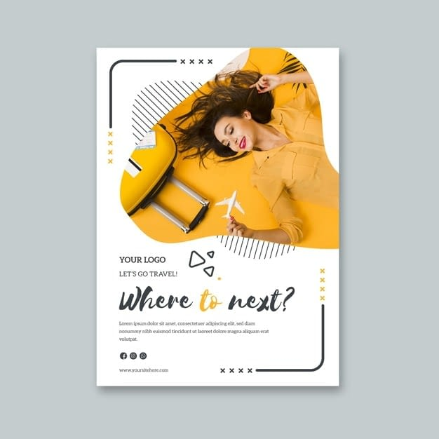 Flyer template for last minute travel min