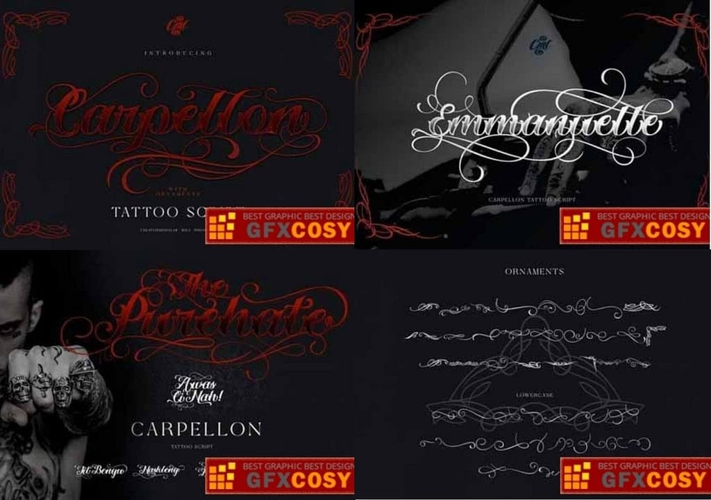3. Carpellon Tattoo Font min