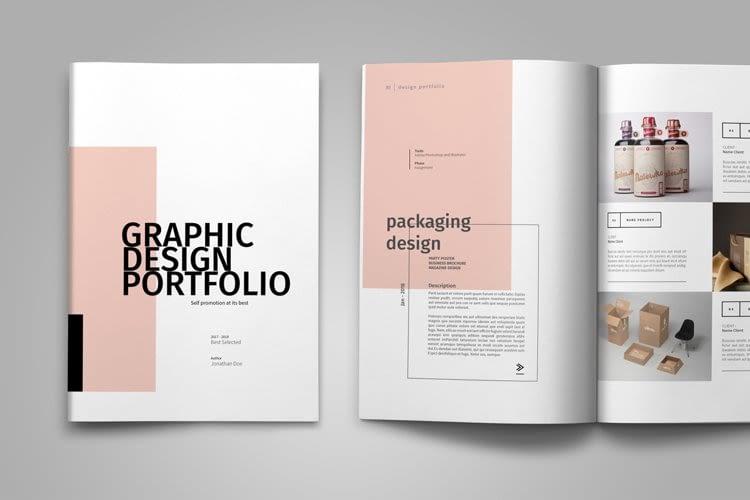 21. Graphic Design Portfolio Template by DesignBundles min
