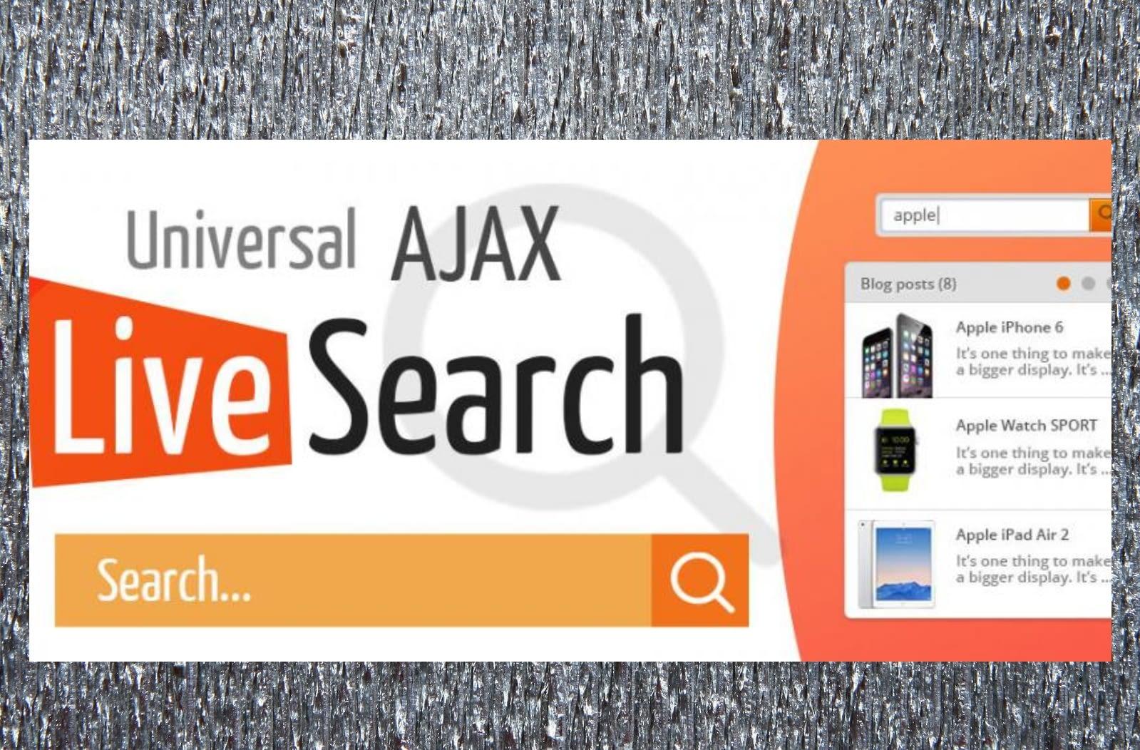 7th u Universal AJAX Live Search
