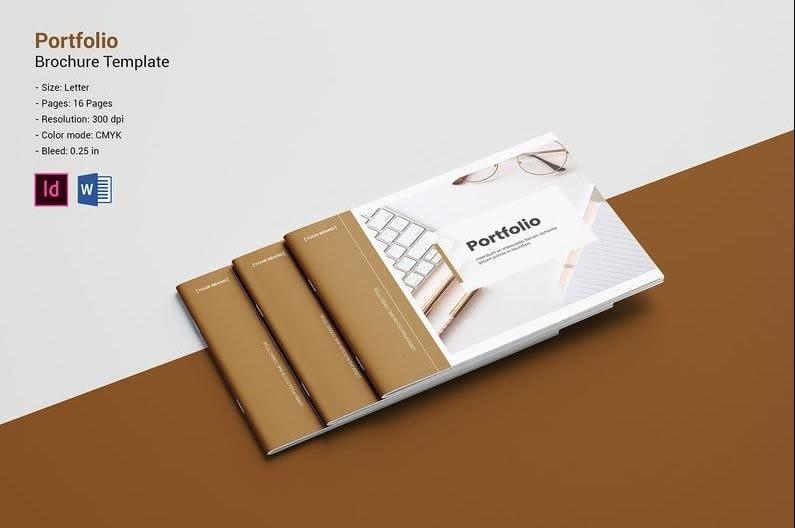 8. Graphic Design Portfolio Multipurpose Portfolio Brochure Template min