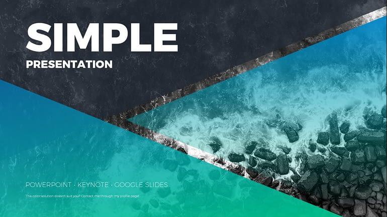 Simple Presentation Google Slides Templates