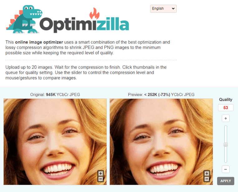 Best Image Optimization Tools #2. Optimizilla