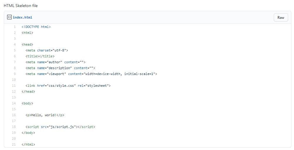 18. HTML Skeleton min