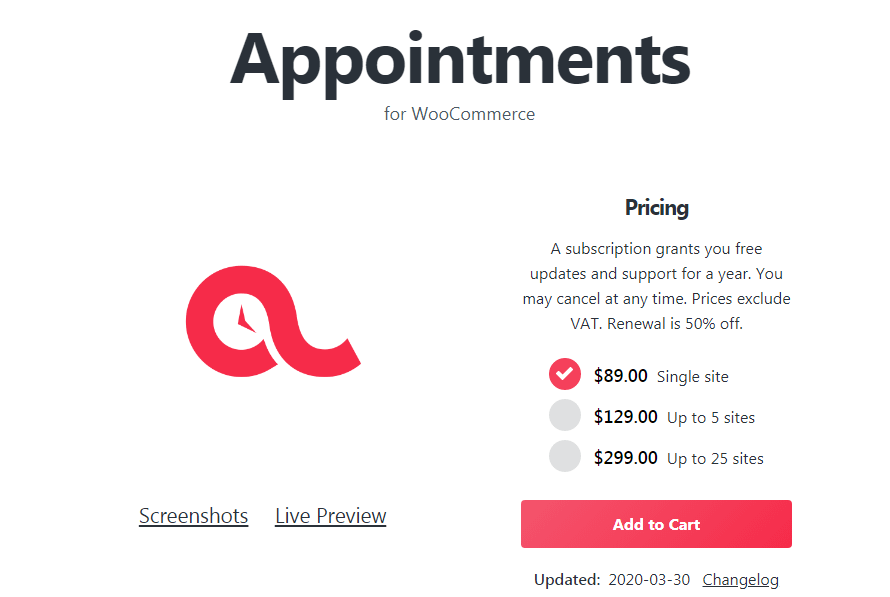 WooCommerce Appointments - WordPress Appointment And Booking Plugin