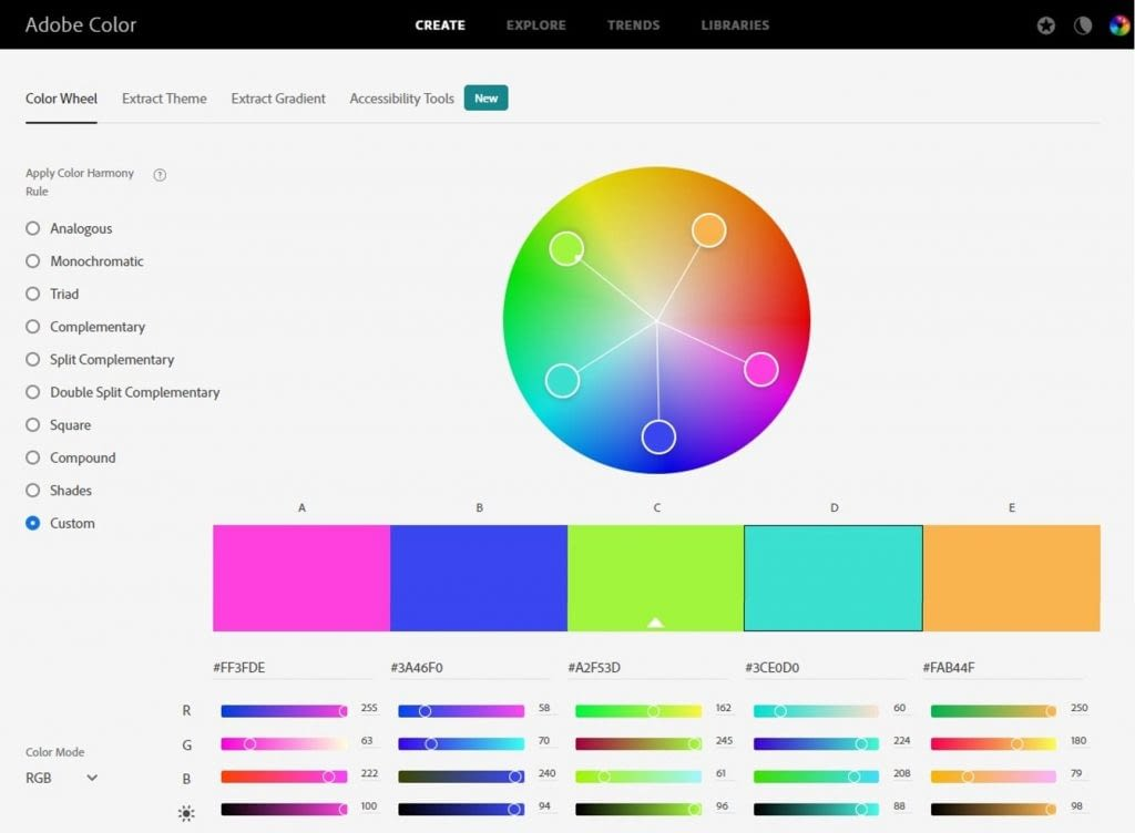 Color-Wheel-–-Adobe-Kuler Color Palette Generators