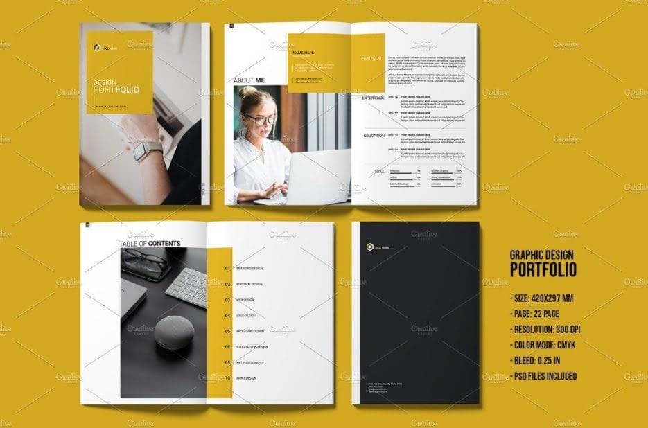 28. Portfolio Template Designer Portfolio Brochure Multipurpose Portfolio Photoshop Template V01 min