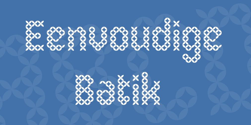 Eenvoudige batik stitch fonts