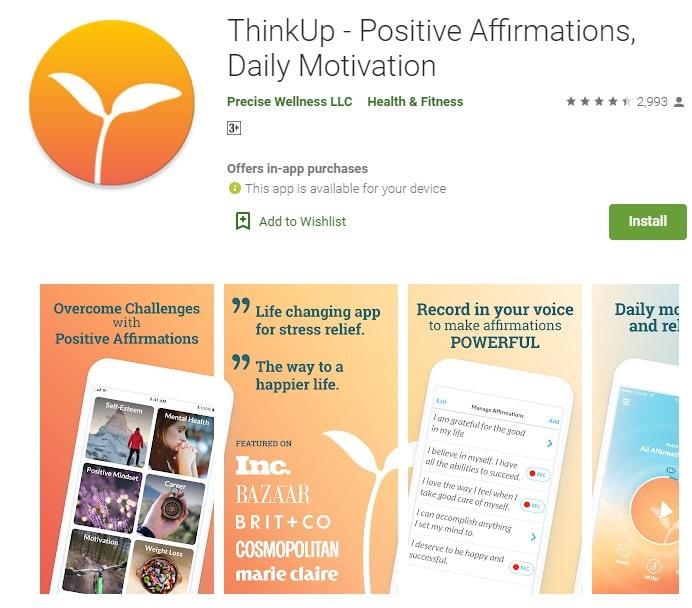 1. ThinkUp Positive Affirmations min