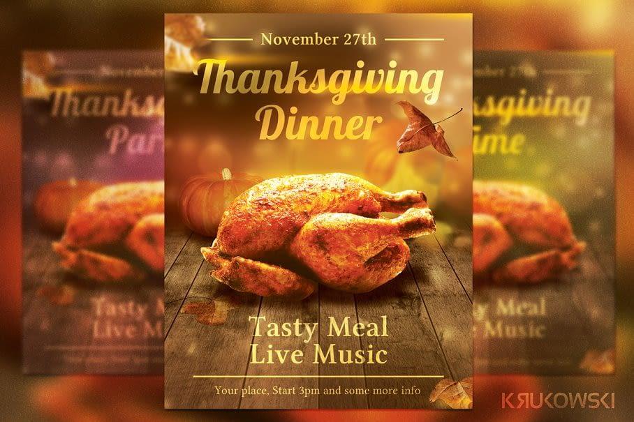 Flyer for Thanksgiving Dinner