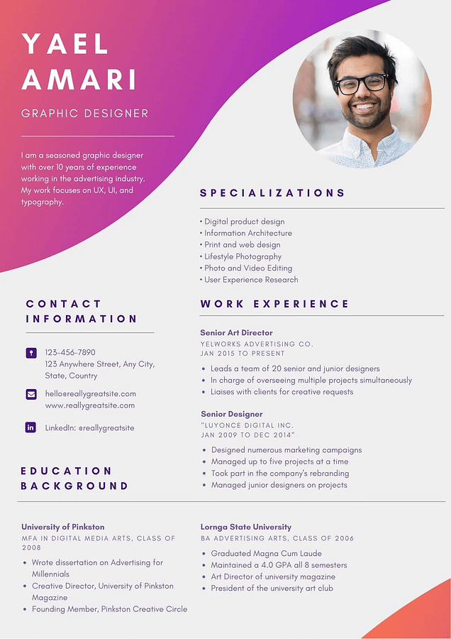 Free Creative Resume Templates fоr Creative Artist