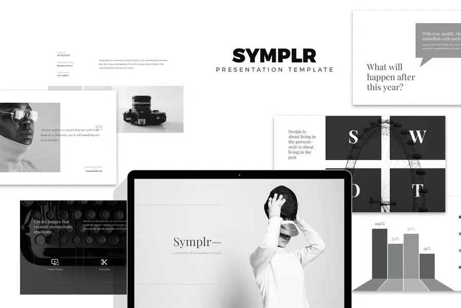 Symplr: Minimal, Clean аnd Simple Google Presentations Google Slides Templates