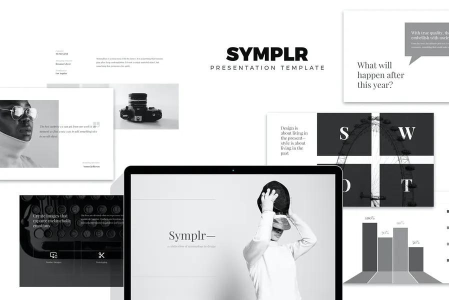 Symplr: Minimal, Clean аnd Simple Google Presentations Google Slides Templates