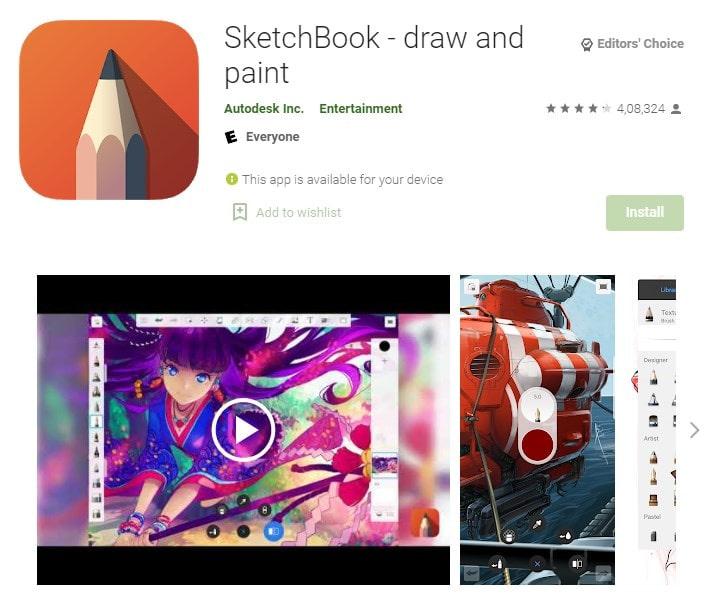 5. Autodesk SketchBook Your app for digital sketches min