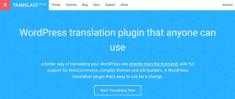 TranslatePress WordPress translation plugins