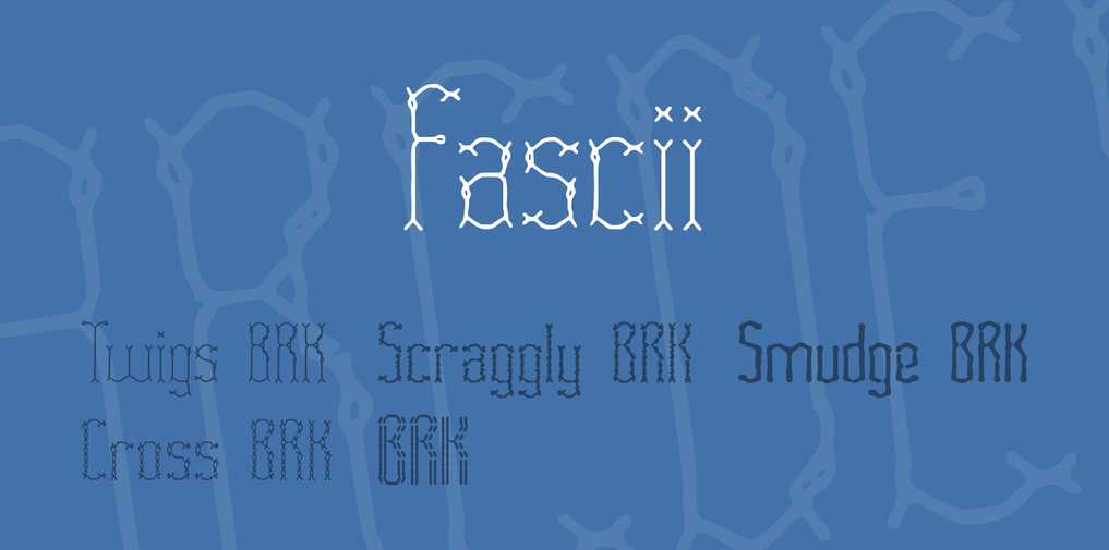 Fascii stitch fonts