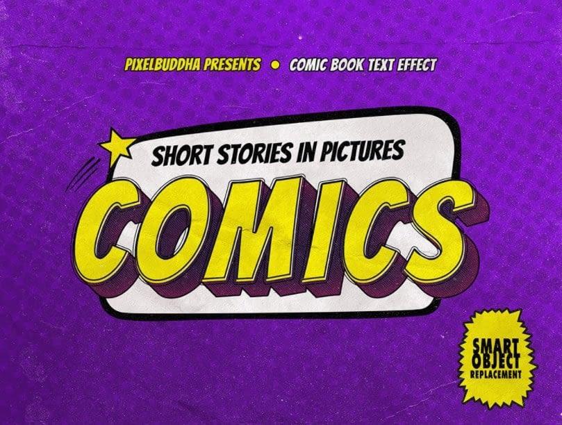 Old Comics PhotoShop Text Effect min