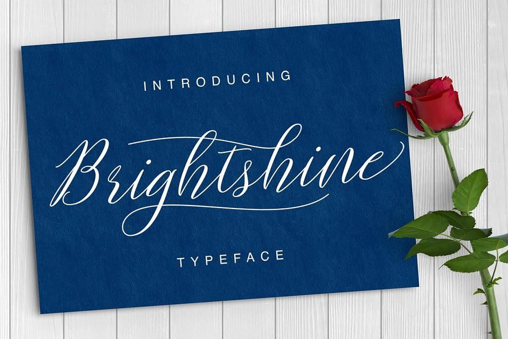 11. Brightshine Tattoo Font