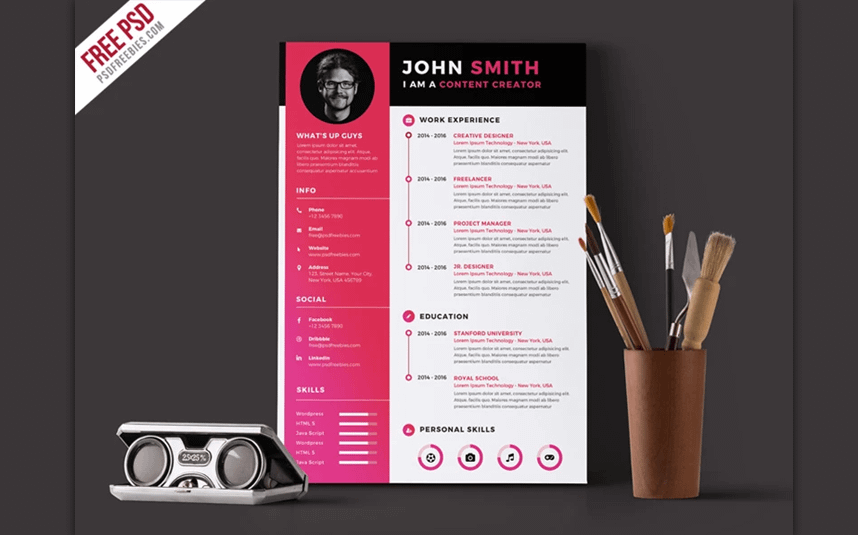 Web CV Resume Templates