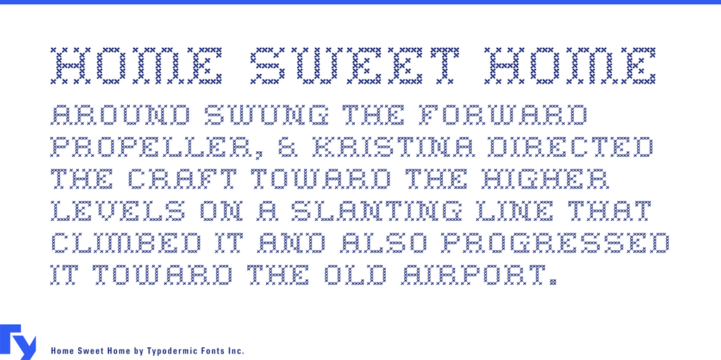 Home sweet home stitch fonts