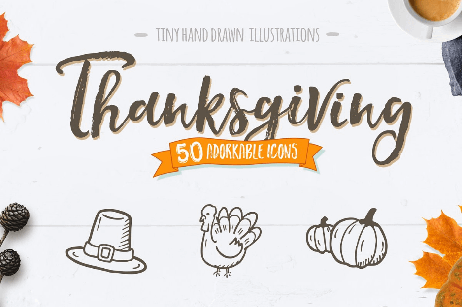 Thanksgiving Icons Fall Graphics