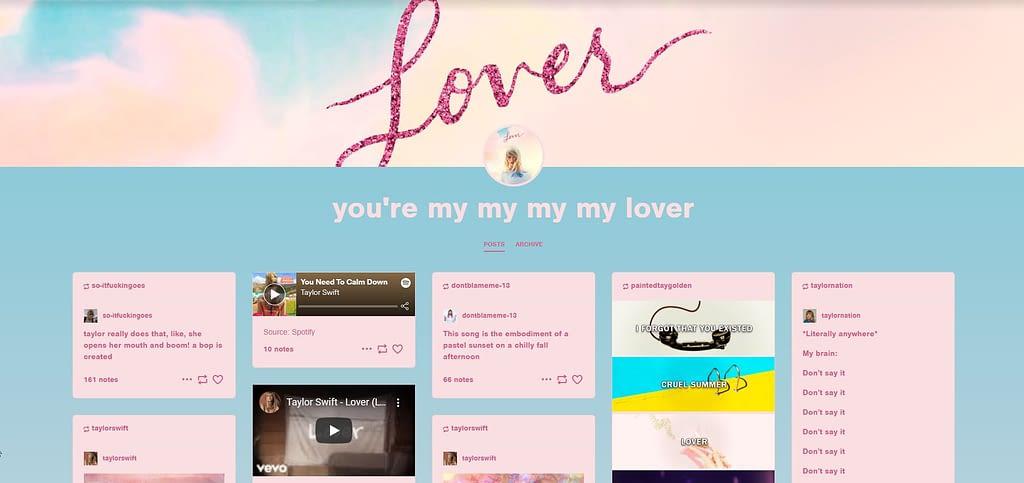 Tylor Swift Free Tumblr Blog Theme