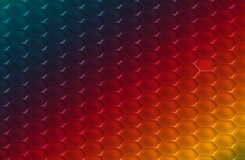 Vector abstract hexagon shape design template