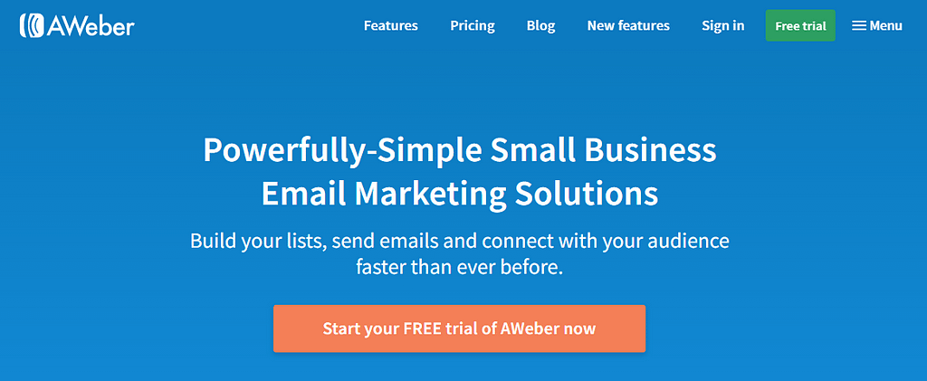 E mail Marketing Services 6. AWeber