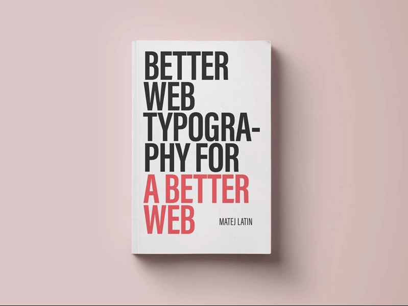 Better Web Typography Books For A Better Web
