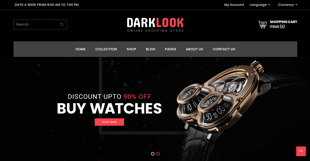 DarkLook Free Website Templates