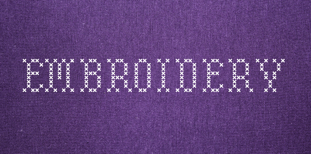 Embroidery stitch fonts