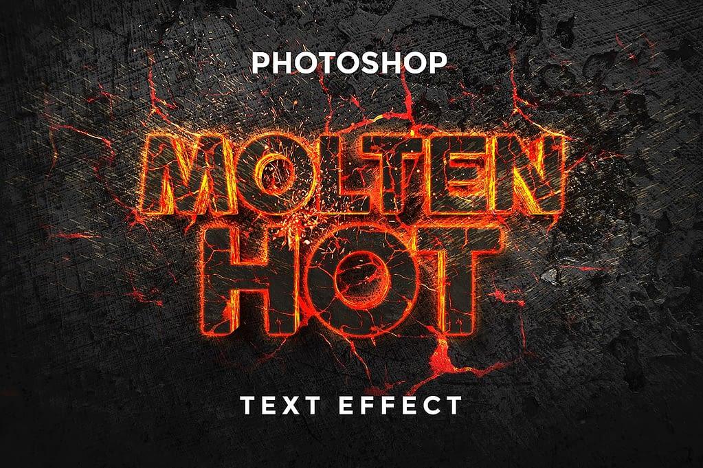 Molten Hot PhotoShop Text Effect min