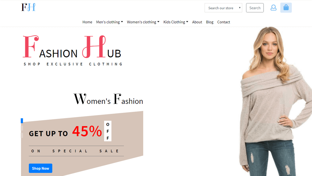 Fashion Hub Free Website Templates