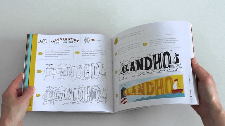 Hand Lettering Ledger Typography Books