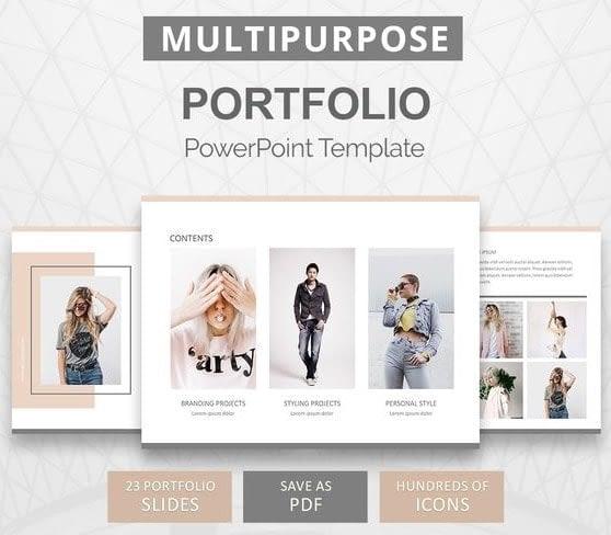 3. Portfolio PowerPoint Template min