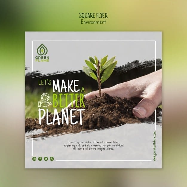 Banner template with hand planting tree min
